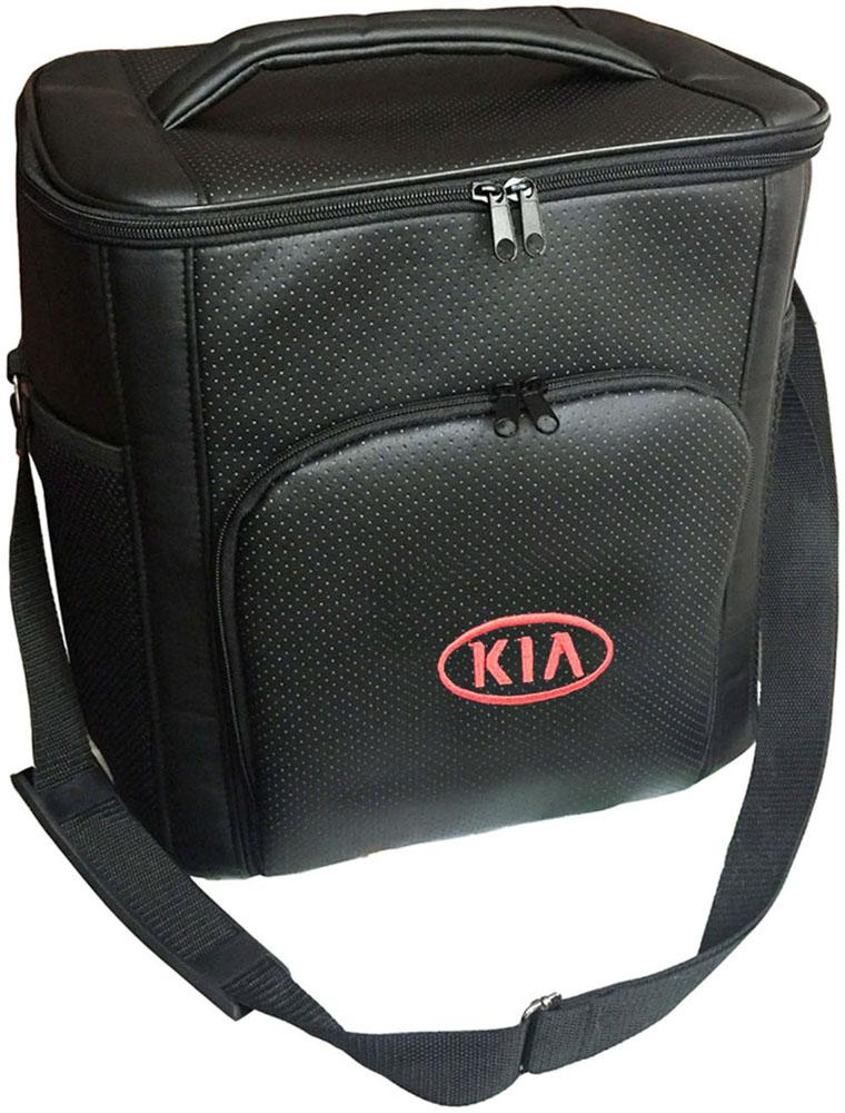 Термосумка Auto Premium Kia, 20 л401564Термосумка Auto Premium Kia выполнена из экокожи с нашивкой и оснащена регулируемым плечевым ремнем. Основное отделение и передний карман закрываются на молнию. Для дополнительного удобства термосумка имеет два боковых сетчатых кармана. Ваши продукты сохранятся свежими, а напитки холодными даже в жару благодаря специальному внутреннему термоизоляцоному материалу АЛЮФОМ (РФ). Для более длительного поддержания температурного режима рекомендуется использовать с аккумуляторами холода. Объем термосумки: 20 л.