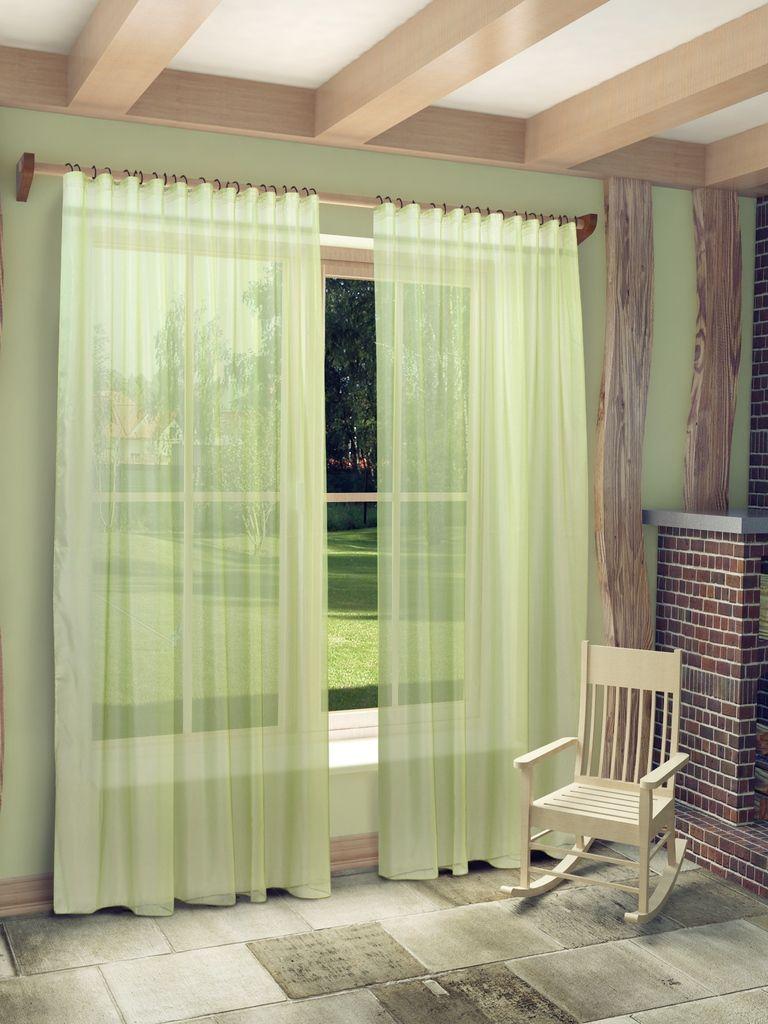 Тюль Sanpa Home Collection Пегги, на ленте, цвет: зеленый, высота 280 см956251325Тюль Пегги нежного цвета изготовлена из микровуали. Микровуаль соединила в себе положительные качества вуали - мягкость, изысканность - и органзы - светопроницаемость, упругость. При этом микровуаль является новым, заслуживающим отдельного внимания видом ткани. Обладая удивительной тонкостью, прозрачностью, полуорганза невероятно пластична и прочна, к тому же, она не поддаётся деформации, усадке и устойчива к ультрафиолетовым лучам.Воздушная ткань привлечет к себе внимание и идеально оформит интерьер любого помещения. Тюль сделает ваш интерьер более нежным, воздушным и невесомым. Можно драпировать окно только тюлью или только портьерами, но вместе они создают идеальную композицию. Мы рекомендуем под однотонные портьеры нейтральных тонов подбирать сложносочиненную тюль, с изысканной вышивкой и орнаментом, а под портьеры с рисунком или ярких тонов - выбирать тюль с минималистичным рисунком или вообще без него.Крепление к карнизу осуществляется при помощи вшитой шторной ленты.