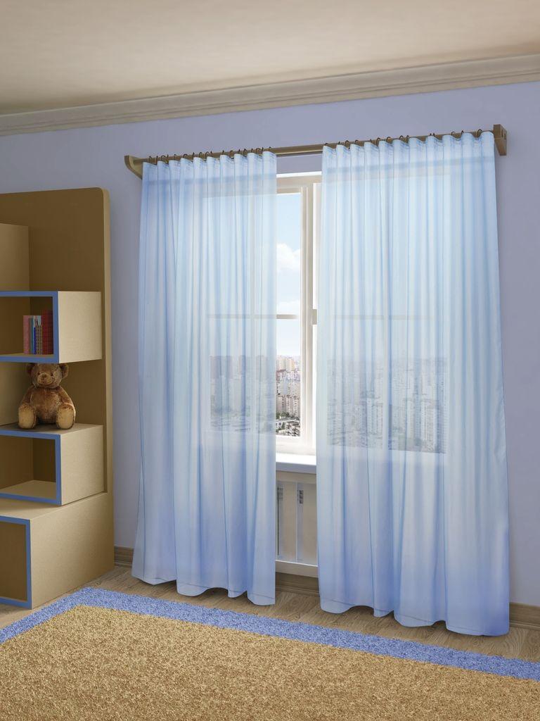 Тюль Sanpa Home Collection Пегги, на ленте, цвет: голубой, высота 280 смSVC-300Тюль Пегги нежного цвета изготовлена из микровуали. Микровуаль соединила в себе положительные качества вуали - мягкость, изысканность - и органзы - светопроницаемость, упругость. При этом микровуаль является новым, заслуживающим отдельного внимания видом ткани. Обладая удивительной тонкостью, прозрачностью, полуорганза невероятно пластична и прочна, к тому же, она не поддаётся деформации, усадке и устойчива к ультрафиолетовым лучам.Воздушная ткань привлечет к себе внимание и идеально оформит интерьер любого помещения. Тюль сделает ваш интерьер более нежным, воздушным и невесомым. Можно драпировать окно только тюлью или только портьерами, но вместе они создают идеальную композицию. Мы рекомендуем под однотонные портьеры нейтральных тонов подбирать сложносочиненную тюль, с изысканной вышивкой и орнаментом, а под портьеры с рисунком или ярких тонов - выбирать тюль с минималистичным рисунком или вообще без него.Крепление к карнизу осуществляется при помощи вшитой шторной ленты.