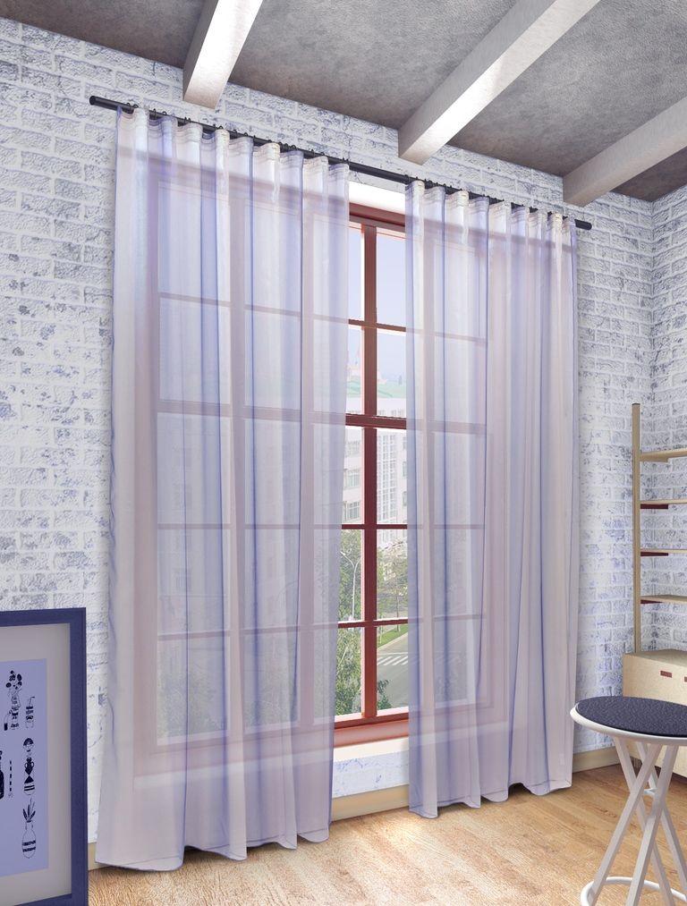 Тюль Sanpa Home Collection Мери, на ленте, цвет: голубой, высота 280 смDW90Тюль Мери нежного цвета изготовлена из высококачественно полуорганзы. Тюль сделает ваш интерьер более нежным, воздушным и невесомым. Можно драпировать окно только тюлью или только портьерами, но вместе они создают идеальную композицию. Мы рекомендуем под однотонные портьеры нейтральных тонов подбирать сложносочиненную тюль, с изысканной вышивкой и орнаментом, а под портьеры с рисунком или ярких тонов - выбирать тюль с минималистичным рисунком или вообще без него.Крепление к карнизу осуществляется при помощи вшитой шторной ленты.