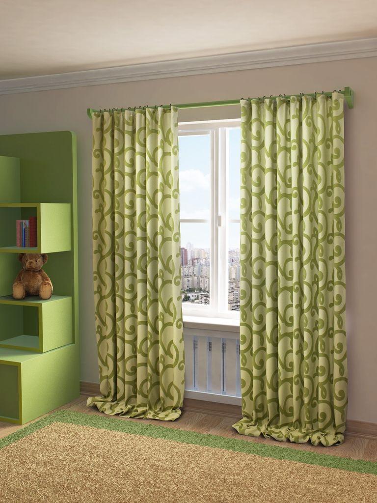 Штора Sanpa Home Collection Реджина, на ленте, цвет: зеленый, высота 280 смHP1924/4/1Е Герда бежевый, , 200*280 смШтора Реджина с оригинальным узором изготовлена из ткани жаккард.Жаккард - одна из дорогостоящих тканей, так как её производство трудозатратно. Своеобразный рельефный рисунок, который получается в результате сложного переплетения на плотной ткани, напоминает гобелен.Крепление к карнизу осуществляется при помощи вшитой шторной ленты.