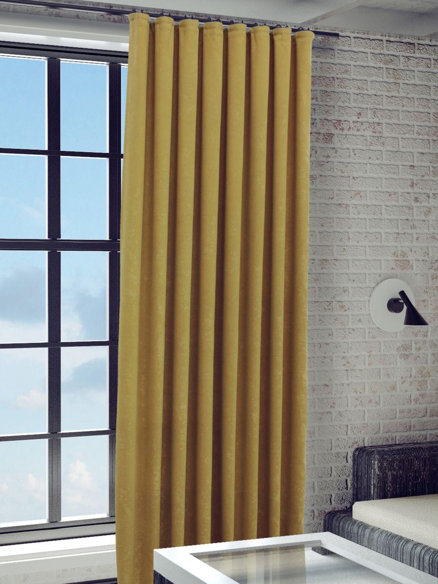 Штора Sanpa Home Collection Зелма, на ленте, цвет: терракотовый, высота 280 смSVC-300Штора Зелма в однотонном исполнении изготовлена из ткани софт.Шторы из этого материала долго сохраняют форму, устойчивы к воздействию света и тепла, чудесно сочетаются с тюлем.Крепление к карнизу осуществляется при помощи вшитой шторной ленты.