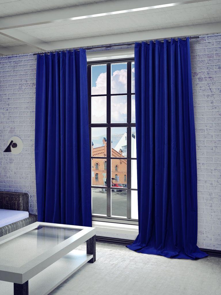Штора Sanpa Home Collection Миранда, на ленте, цвет: синий, высота 260 смS03301004Штора Миранда в классическом однотонном исполнении изготовлена из ткани тафта.Тафта - разновидность глянцевой плотной тонкой ткани полотняного переплетения из туго скрученных нитей шёлка, хлопка или синтетических органических полимеров (Химические волокна).Крепление к карнизу осуществляется при помощи вшитой шторной ленты.