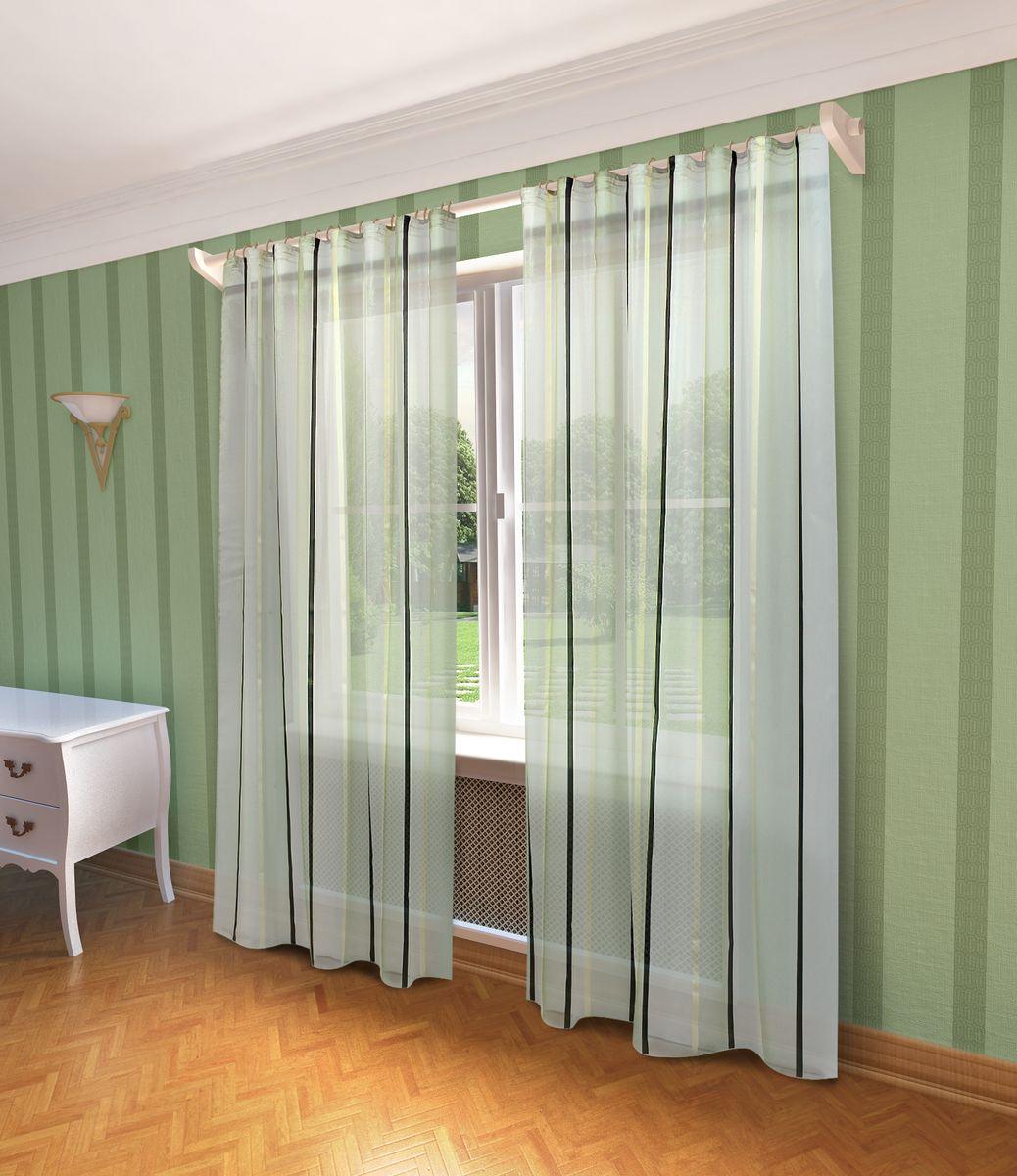 Тюль Sanpa Home Collection Холли, на ленте, цвет: зеленый, высота 280 смVCA-00Тюль Холли нежного цвета изготовлена из полуорганзы. Воздушная ткань привлечет к себе внимание и идеально оформит интерьер любого помещения. Тюль сделает ваш интерьер более нежным, воздушным и невесомым. Можно драпировать окно только тюлью или только портьерами, но вместе они создают идеальную композицию. Мы рекомендуем под однотонные портьеры нейтральных тонов подбирать сложносочиненную тюль, с изысканной вышивкой и орнаментом, а под портьеры с рисунком или ярких тонов - выбирать тюль с минималистичным рисунком или вообще без него.Крепление к карнизу осуществляется при помощи вшитой шторной ленты.
