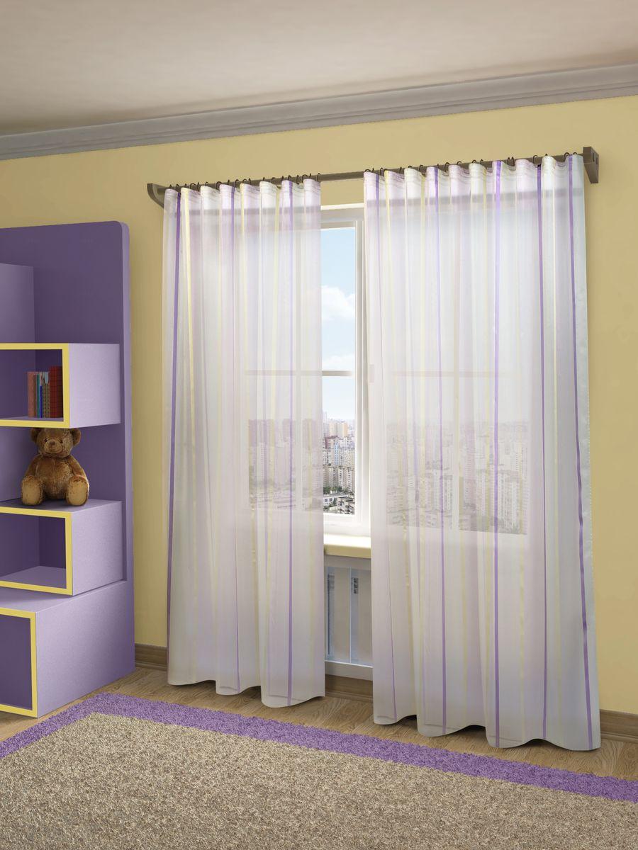 Тюль Sanpa Home Collection Холли, на ленте, цвет: сиреневый, высота 280 смSVC-300Тюль Холли нежного цвета изготовлена из полуорганзы. Воздушная ткань привлечет к себе внимание и идеально оформит интерьер любого помещения. Тюль сделает ваш интерьер более нежным, воздушным и невесомым. Можно драпировать окно только тюлью или только портьерами, но вместе они создают идеальную композицию. Мы рекомендуем под однотонные портьеры нейтральных тонов подбирать сложносочиненную тюль, с изысканной вышивкой и орнаментом, а под портьеры с рисунком или ярких тонов - выбирать тюль с минималистичным рисунком или вообще без него.Крепление к карнизу осуществляется при помощи вшитой шторной ленты.
