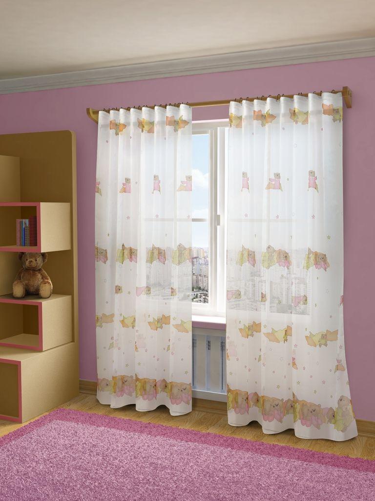 Тюль Sanpa Home Collection Барни, на ленте, цвет: белый, коричневый, розовый, высота 280 смVCA-00Тюль Барни нежного цвета изготовлена из ткани вуаль. Воздушная ткань привлечет к себе внимание и идеально оформит интерьер любого помещения. Ткань вуаль - это гладкая, тонкая, полупрозрачная ткань, изготавливаемая из хлопка, шерсти, шёлка или полиэстера путём полотняного переплетения нитей. Крепление к карнизу осуществляется при помощи вшитой шторной ленты.