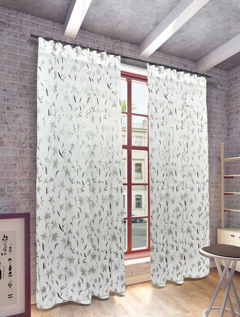 Тюль Sanpa Home Collection Антия, на ленте, цвет: белый, серый, высота 280 смIRK-503Тюль Антия нежного цвета с оригинальным рисунком изготовленная в технике деворе. Воздушная ткань привлечет к себе внимание и идеально оформит интерьер любого помещения. Деворе - это сложнейшая техника химического травления, при котором ткань приобретает великолепный, поистине волшебный вид. Изысканный атласный или бархатный рисунок буквально парит на матовом или прозрачном фоне, и материал становится лёгким, живым и объёмным.Крепление к карнизу осуществляется при помощи вшитой шторной ленты.