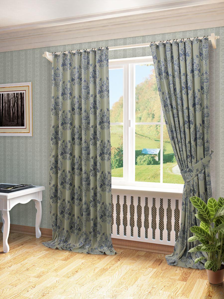 Комплект штор Sanpa Home Collection Лесли, на ленте, цвет: голубой, высота 270 смDAVC150Комплект штор Лесли, выполненный из жаккарда, великолепно украсит любое окно. Комплект состоит из двух штор и двух подхватов. Оригинальный рисунок и приятная цветовая гамма привлекут к себе внимание и органично впишутся в интерьер помещения. Этот комплект будет долгое время радовать вас и вашу семью!В комплект входит: Штора: 2 шт. Размер (Ш х В): 170 см х 270 см.Подхват: 2 шт.
