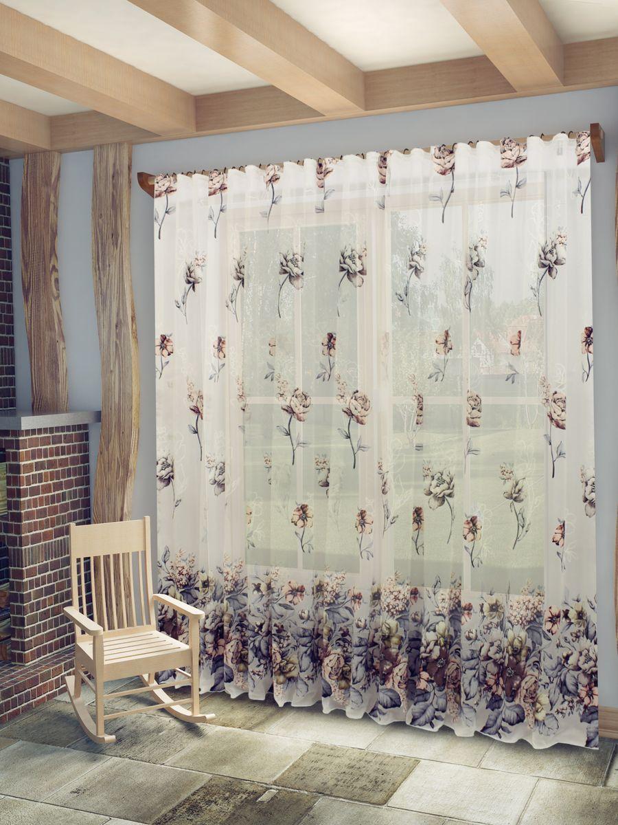 Тюль Sanpa Home Collection Кэтрин, на ленте, цвет: серо-розовый, высота 260 смSS 4041Тюль Кэтрин нежного цвета изготовлена в технике деворе. Воздушная ткань привлечет к себе внимание и идеально оформит интерьер любого помещения. Деворе - это сложнейшая техника химического травления, при котором ткань приобретает великолепный, поистине волшебный вид. Изысканный атласный или бархатный рисунок буквально парит на матовом или прозрачном фоне, и материал становится лёгким, живым и объёмным.Крепление к карнизу осуществляется при помощи вшитой шторной ленты.