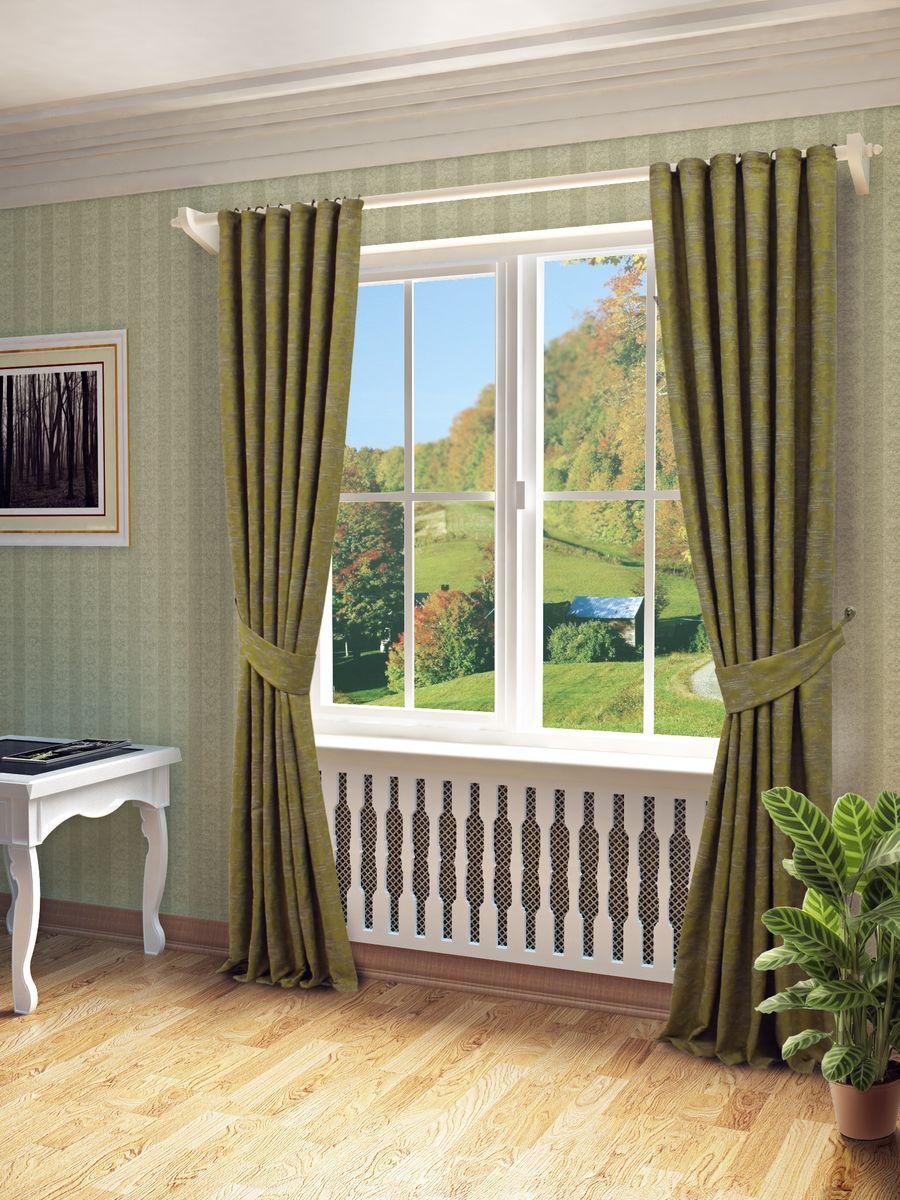 Комплект штор Sanpa Home Collection Вэнди, на ленте, цвет: зеленый, высота 260 смSVC-300Комплект штор Вэнди, выполненный из жаккарда, великолепно украсит любое окно. Комплект состоит из двух штор и двух подхватов. Оригинальный рисунок и приятная цветовая гамма привлекут к себе внимание и органично впишутся в интерьер помещения. Этот комплект будет долгое время радовать вас и вашу семью!В комплект входит: Штора: 2 шт. Размер (Ш х В): 150 см х 260 см.Подхват: 2 шт.