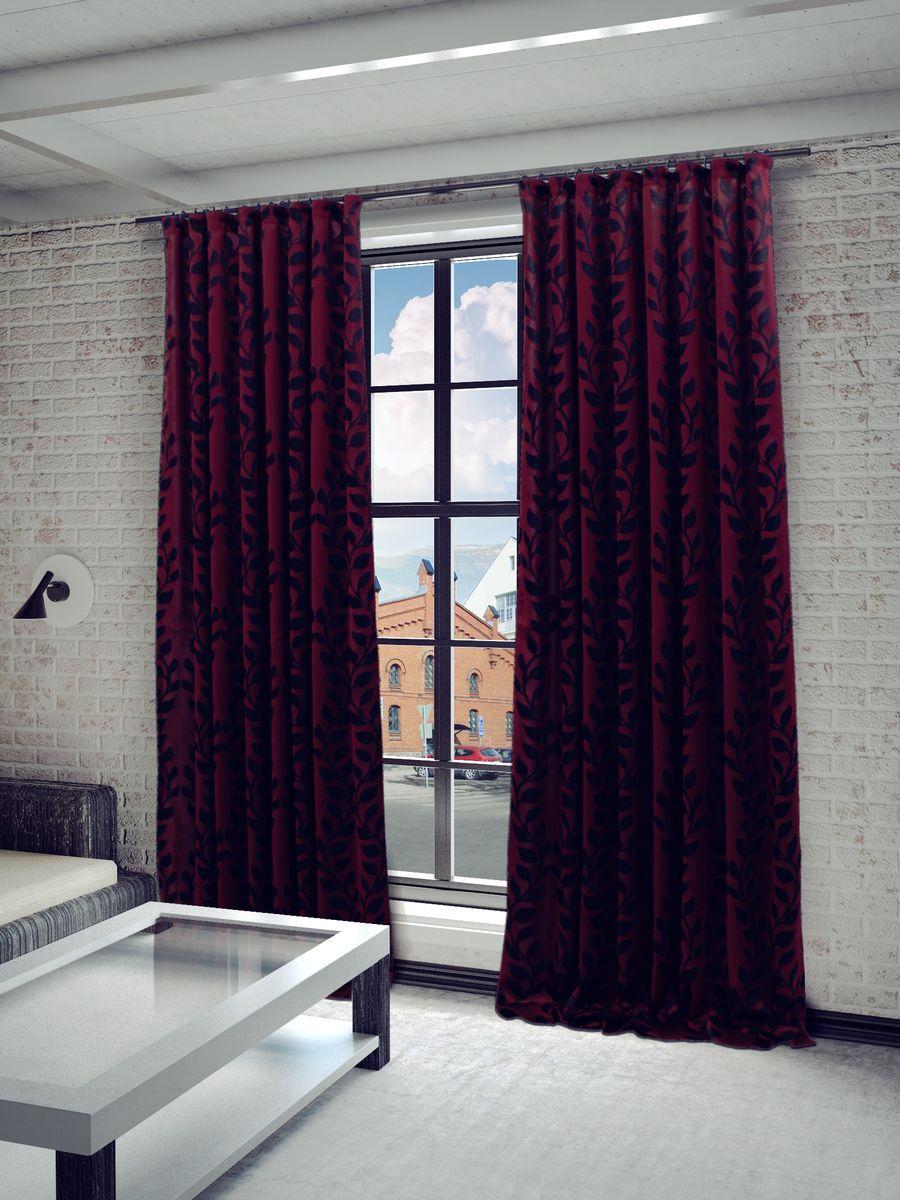 Штора Sanpa Home Collection Алекса, на ленте, цвет: красный, черный, высота 260 смHP65121/9/1E АЛЕКСА красный, , 150*260 смШтора Алекса с не ярким узором изготовлена из ткани жаккард.Жаккард - одна из дорогостоящих тканей, так как её производство трудозатратно. Своеобразный рельефный рисунок, который получается в результате сложного переплетения на плотной ткани, напоминает гобелен.Крепление к карнизу осуществляется при помощи вшитой шторной ленты.