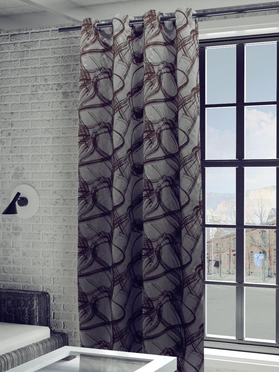 Штора Sanpa Home Collection Талита, на люверсах, цвет: серый, коричневый, высота 260 см1004900000360Штора Талита с оригинальным узором изготовлена из ткани жаккард.Жаккард - одна из дорогостоящих тканей, так как её производство трудозатратно. Своеобразный рельефный рисунок, который получается в результате сложного переплетения на плотной ткани, напоминает гобелен.Изделие оснащено металлическими люверсами для подвешивания на карниз-трубу, которые гармонично смотрятся и легко скользят по карнизу. Штора на люверсах идеально подойдет для гостиной или спальни и великолепно украсит любое окно.