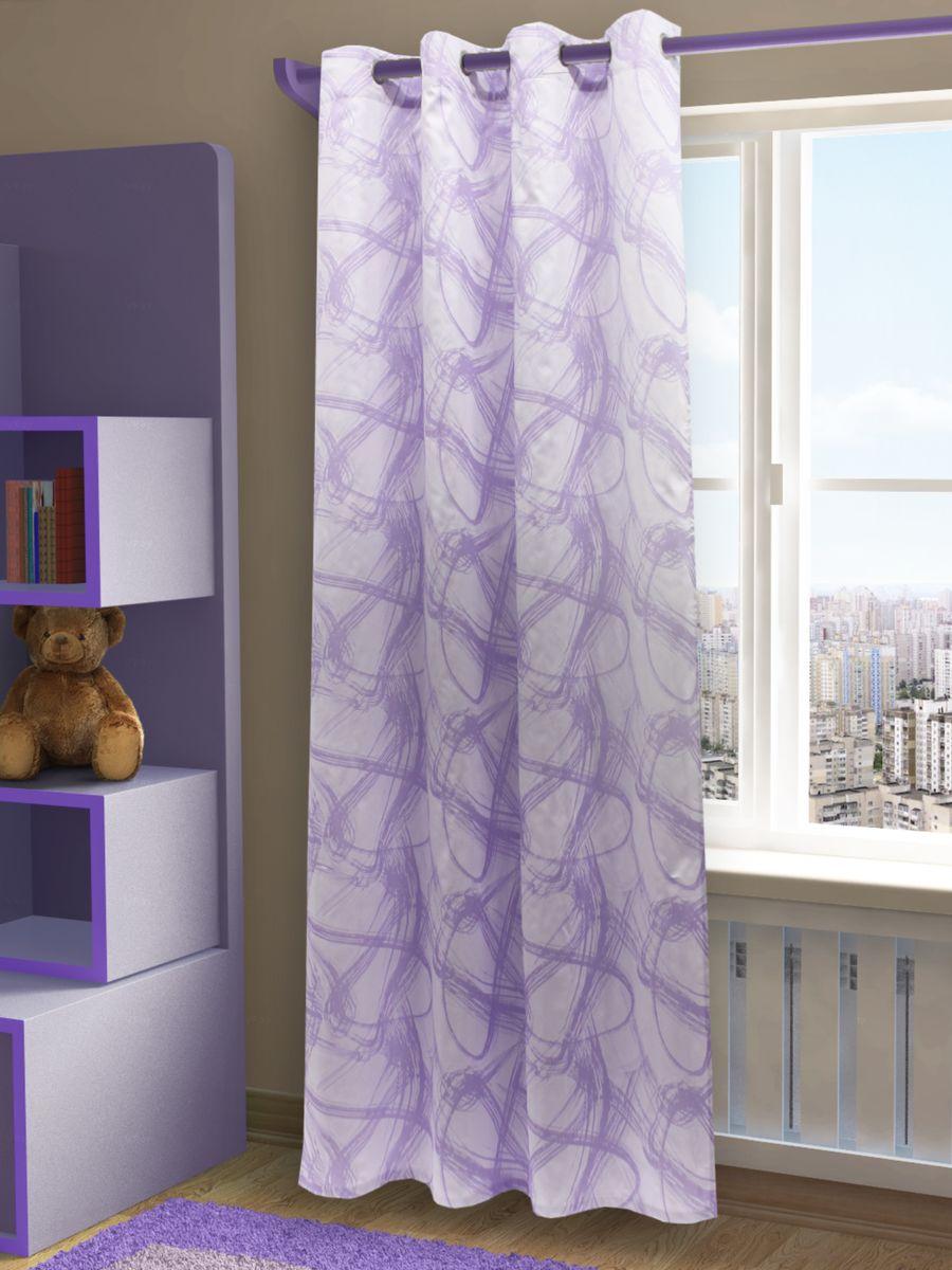 Штора Sanpa Home Collection Талита, на люверсах, цвет: сиреневый, высота 260 см234100Штора Талита с оригинальным узором изготовлена из ткани жаккард.Жаккард - одна из дорогостоящих тканей, так как её производство трудозатратно. Своеобразный рельефный рисунок, который получается в результате сложного переплетения на плотной ткани, напоминает гобелен.Изделие оснащено металлическими люверсами для подвешивания на карниз-трубу, которые гармонично смотрятся и легко скользят по карнизу. Штора на люверсах идеально подойдет для гостиной или спальни и великолепно украсит любое окно.