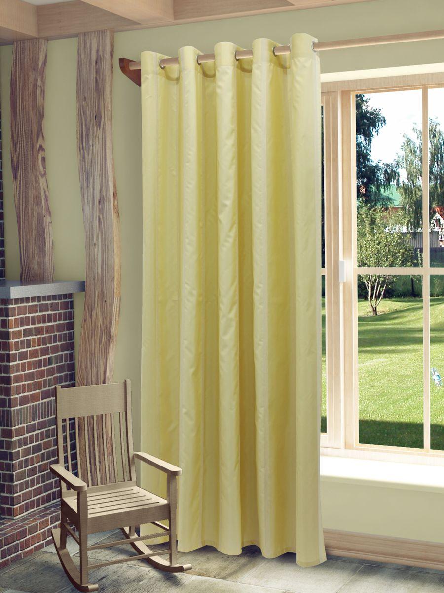 Штора Sanpa Home Collection Иветта, на люверсах, цвет: бежевый, высота 260 см956251325Штора Иветта изготовлена из тафты и шенилла.Шторы - неотъемлемая часть интерьера и грамотно подобранная ткань подчеркнёт индивидуальность вашего интерьера, добавит уюта и комфорта.Изделие оснащено металлическими люверсами для подвешивания на карниз-трубу, которые гармонично смотрятся и легко скользят по карнизу. Штора на люверсах идеально подойдет для гостиной или спальни и великолепно украсит любое окно.
