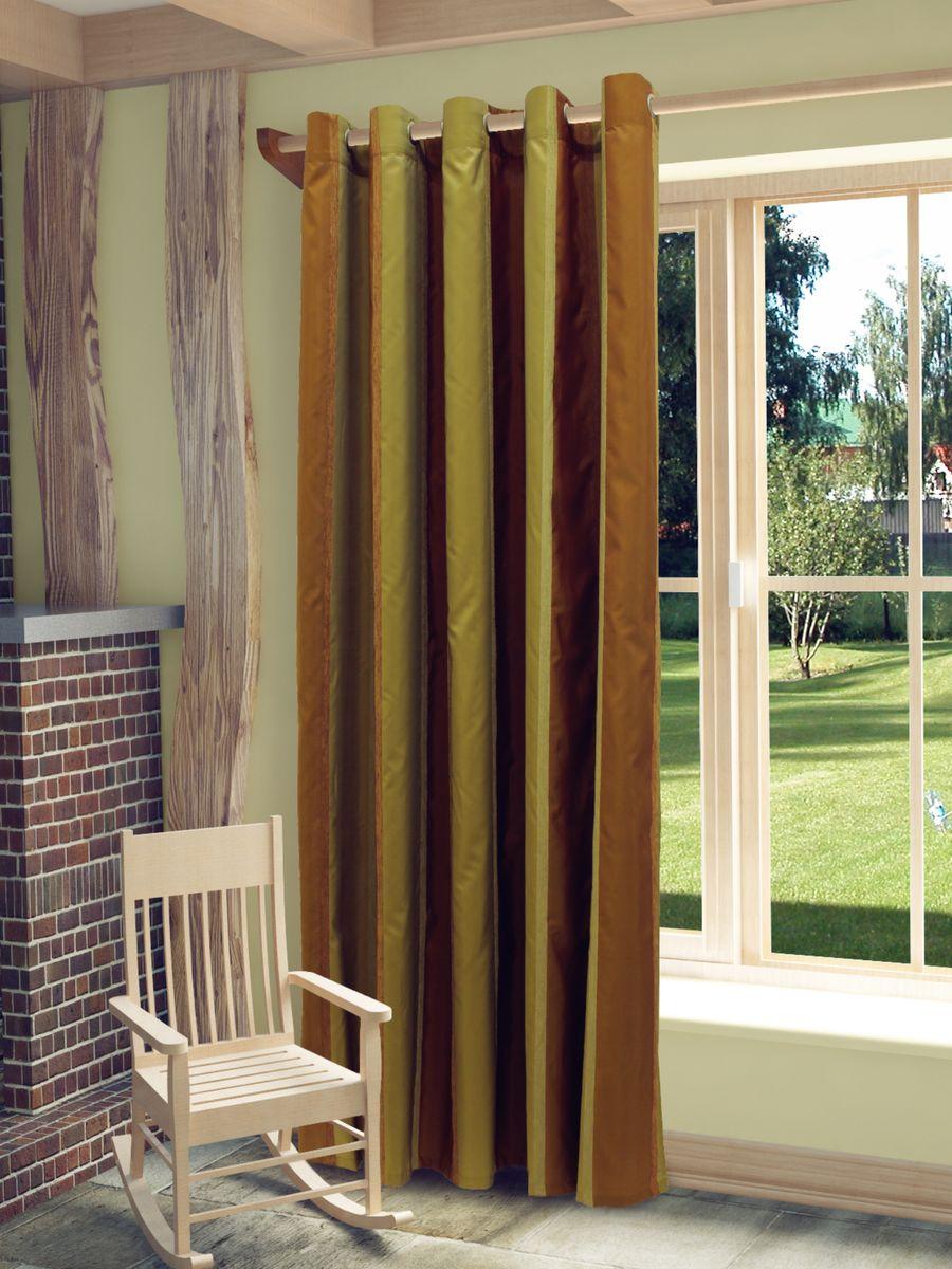Штора Sanpa Home Collection Иветта, на люверсах, цвет: коричневый, бежевый, высота 260 смVCA-00Штора Иветта изготовлена из тафты и шенилла.Шторы - неотъемлемая часть интерьера и грамотно подобранная ткань подчеркнёт индивидуальность вашего интерьера, добавит уюта и комфорта.Изделие оснащено металлическими люверсами для подвешивания на карниз-трубу, которые гармонично смотрятся и легко скользят по карнизу. Штора на люверсах идеально подойдет для гостиной или спальни и великолепно украсит любое окно.