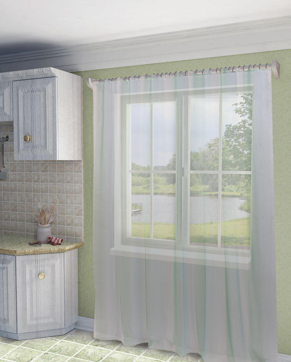 Тюль Sanpa Home Collection Мери, на ленте, цвет: бирюзовый, высота 280 смVCA-00Тюль Мери нежного цвета изготовлена из высококачественно полуорганзы. Тюль сделает ваш интерьер более нежным, воздушным и невесомым. Можно драпировать окно только тюлью или только портьерами, но вместе они создают идеальную композицию. Мы рекомендуем под однотонные портьеры нейтральных тонов подбирать сложносочиненную тюль, с изысканной вышивкой и орнаментом, а под портьеры с рисунком или ярких тонов - выбирать тюль с минималистичным рисунком или вообще без него.Крепление к карнизу осуществляется при помощи вшитой шторной ленты.