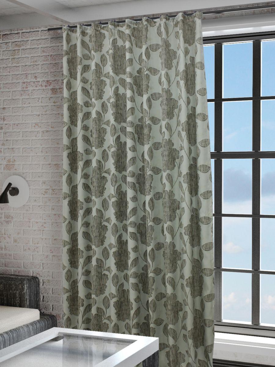 Штора Sanpa Home Collection Асанта, на ленте, цвет: бежевый, бирюзовый, высота 260 смSVC-300Штора Асанта с оригинальным рисунком изготовлена из ткани жаккард.Жаккард - одна из дорогостоящих тканей, так как её производство трудозатратно. Своеобразный рельефный рисунок, который получается в результате сложного переплетения на плотной ткани, напоминает гобелен.Крепление к карнизу осуществляется при помощи вшитой шторной ленты.