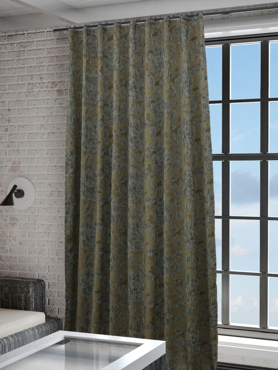 Штора Sanpa Home Collection Асанта, на ленте, цвет: серый, коричневый, высота 260 см100-49000000-60Штора Асанта с оригинальным рисунком изготовлена из ткани жаккард.Жаккард - одна из дорогостоящих тканей, так как её производство трудозатратно. Своеобразный рельефный рисунок, который получается в результате сложного переплетения на плотной ткани, напоминает гобелен.Крепление к карнизу осуществляется при помощи вшитой шторной ленты.