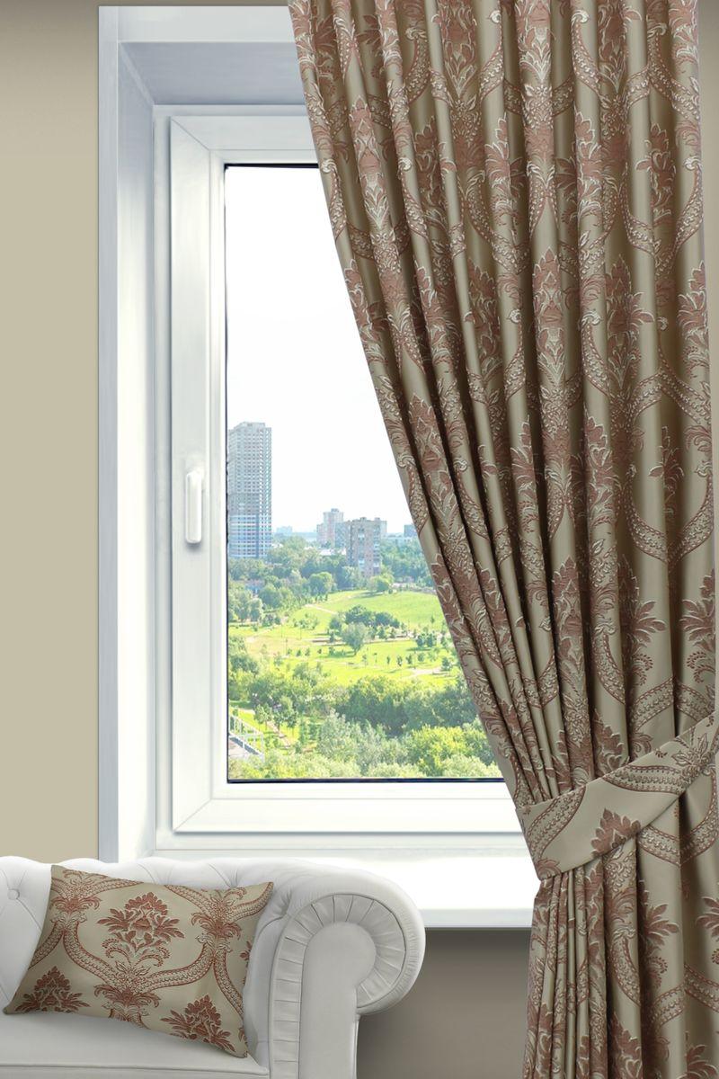 Штора Sanpa Home Collection Нанзия, на ленте, цвет: розовый, высота 260 смС W1223 V71173Штора Нанзия с оригинальным узором изготовлена из ткани жаккард.Жаккард - одна из дорогостоящих тканей, так как её производство трудозатратно. Своеобразный рельефный рисунок, который получается в результате сложного переплетения на плотной ткани, напоминает гобелен.Крепление к карнизу осуществляется при помощи вшитой шторной ленты.