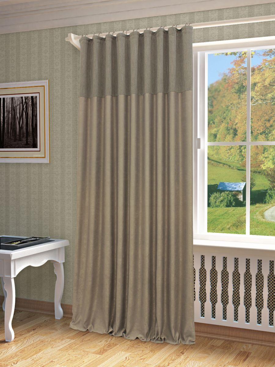 Штора Sanpa Home Collection Эльза, на ленте, цвет: серый, высота 260 смPM 6705Штора Эльза в однотонном исполнении изготовлена из высококачественных материалов.Шторы - это немаловажный, но всё же аксессуар в вашем доме, поэтому их стиль нужно подбирать, исходя из дизайна в вашей квартире. Например, тяжелые и выполненные из дорогих тканей шторы прекрасно впишутся в классическую гостиную. А вот для современных стилей могут быть использованы шторы с более простым оформлением. Крепление к карнизу осуществляется при помощи вшитой шторной ленты.