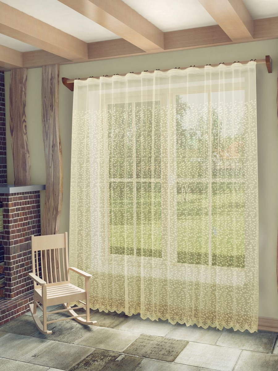 Тюль Sanpa Home Collection Марсела, на ленте, цвет: бежевый, высота 260 см956251325Тюль Марсела нежного цвета изготовлена из высококачественных материалов. Воздушная ткань привлечет к себе внимание и идеально оформит интерьер любого помещения. Тюль сделает ваш интерьер более нежным, воздушным и невесомым. Можно драпировать окно только тюлью или только портьерами, но вместе они создают идеальную композицию. Мы рекомендуем под однотонные портьеры нейтральных тонов подбирать сложносочиненную тюль, с изысканной вышивкой и орнаментом, а под портьеры с рисунком или ярких тонов - выбирать тюль с минималистичным рисунком или вообще без него.Крепление к карнизу осуществляется при помощи вшитой шторной ленты.