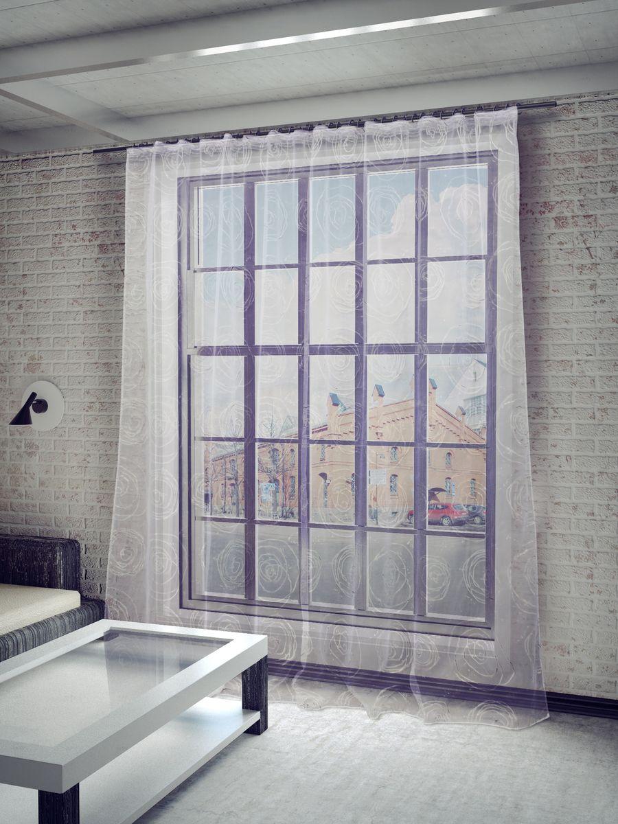 Тюль Sanpa Home Collection Граса, на ленте, цвет: серебристый, высота 260 смDW90Тюль Граса нежного цвета изготовлена в технике деворе. Воздушная ткань привлечет к себе внимание и идеально оформит интерьер любого помещения. Деворе - это сложнейшая техника химического травления, при котором ткань приобретает великолепный, поистине волшебный вид. Изысканный атласный или бархатный рисунок буквально парит на матовом или прозрачном фоне, и материал становится лёгким, живым и объёмным.Крепление к карнизу осуществляется при помощи вшитой шторной ленты.