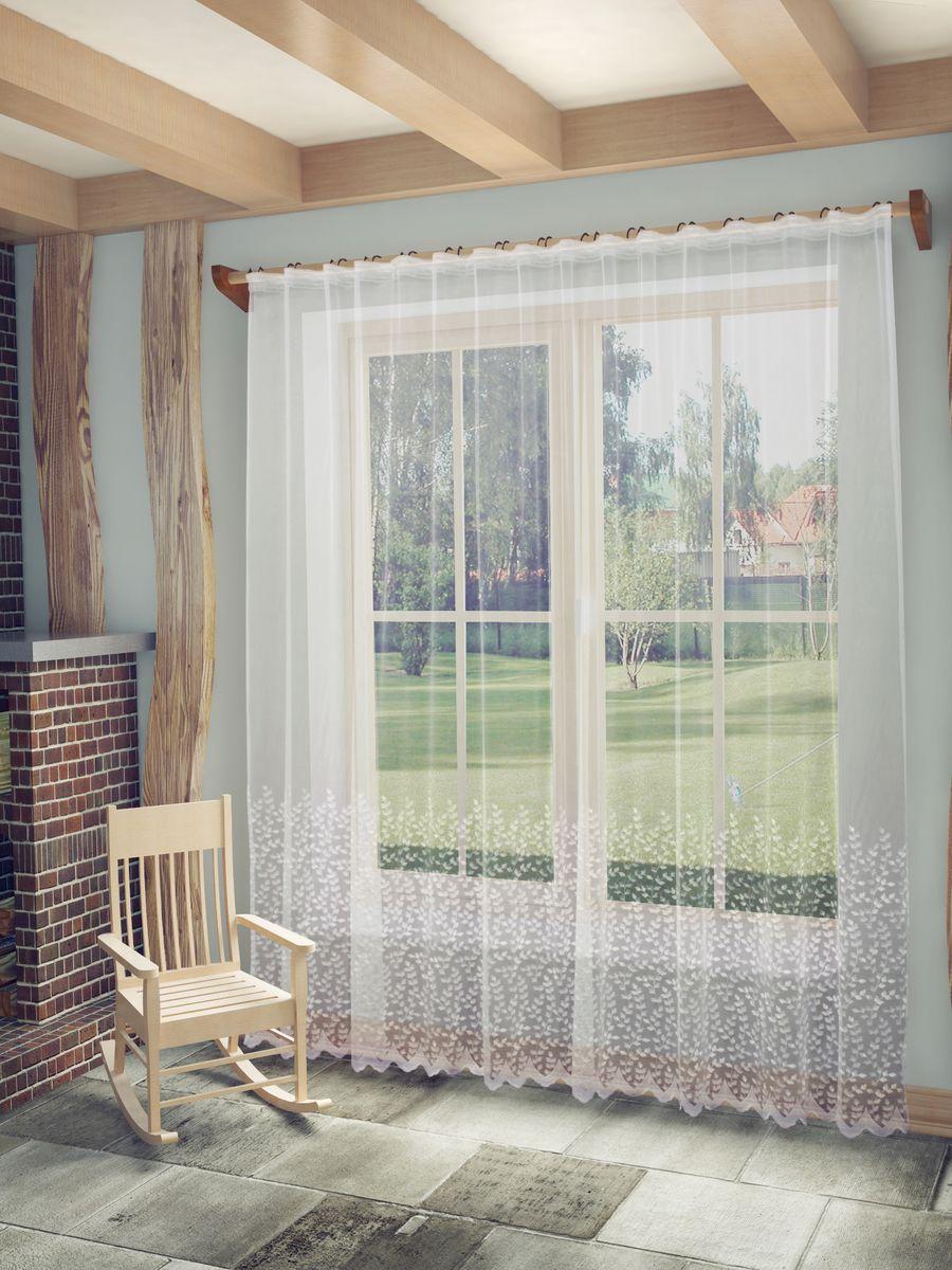 Тюль Sanpa Home Collection Марсела, на ленте, цвет: белый, высота 260 см704538Тюль Марсела нежного цвета изготовлена из высококачественных материалов. Воздушная ткань привлечет к себе внимание и идеально оформит интерьер любого помещения. Тюль сделает ваш интерьер более нежным, воздушным и невесомым. Можно драпировать окно только тюлью или только портьерами, но вместе они создают идеальную композицию. Мы рекомендуем под однотонные портьеры нейтральных тонов подбирать сложносочиненную тюль, с изысканной вышивкой и орнаментом, а под портьеры с рисунком или ярких тонов - выбирать тюль с минималистичным рисунком или вообще без него.Крепление к карнизу осуществляется при помощи вшитой шторной ленты.