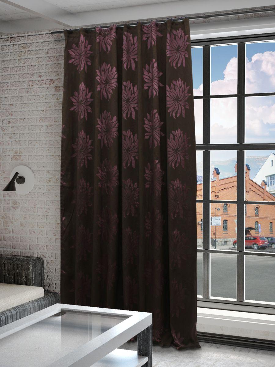 Штора Sanpa Home Collection Жаклин, на ленте, цвет: сиреневый, коричневый, высота 260 см1004900000360Штора Жаклин с оригинальным узором изготовлена из ткани жаккард.Жаккард - одна из дорогостоящих тканей, так как её производство трудозатратно. Своеобразный рельефный рисунок, который получается в результате сложного переплетения на плотной ткани, напоминает гобелен.Крепление к карнизу осуществляется при помощи вшитой шторной ленты.