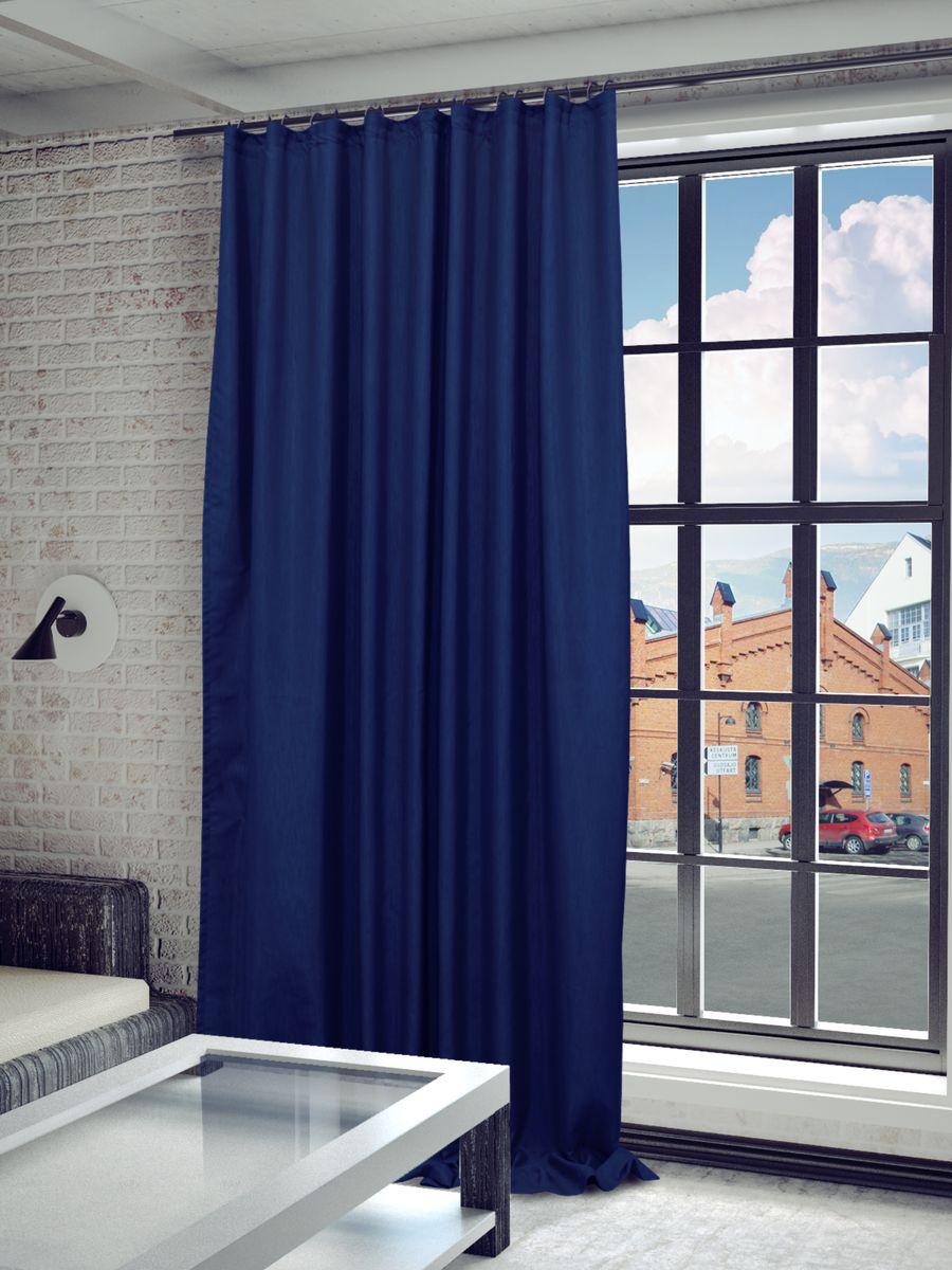 Штора Sanpa Home Collection Агнес, на ленте, цвет: синий, высота 280 смHP8120/1393/1E Агнес синий, , 200*280 смШтора Агнес в классическом однотонном исполнении изготовлена из ткани сатен.Сатен, или сатинет - это ткань из полиэфира с сатиновым переплетением нитей. На ощупь с лицевой стороны он напоминает атласное или шелковое полотно, однако его поверхность матовая, она рассеивает свет, не давая бликов.Крепление к карнизу осуществляется при помощи вшитой шторной ленты.