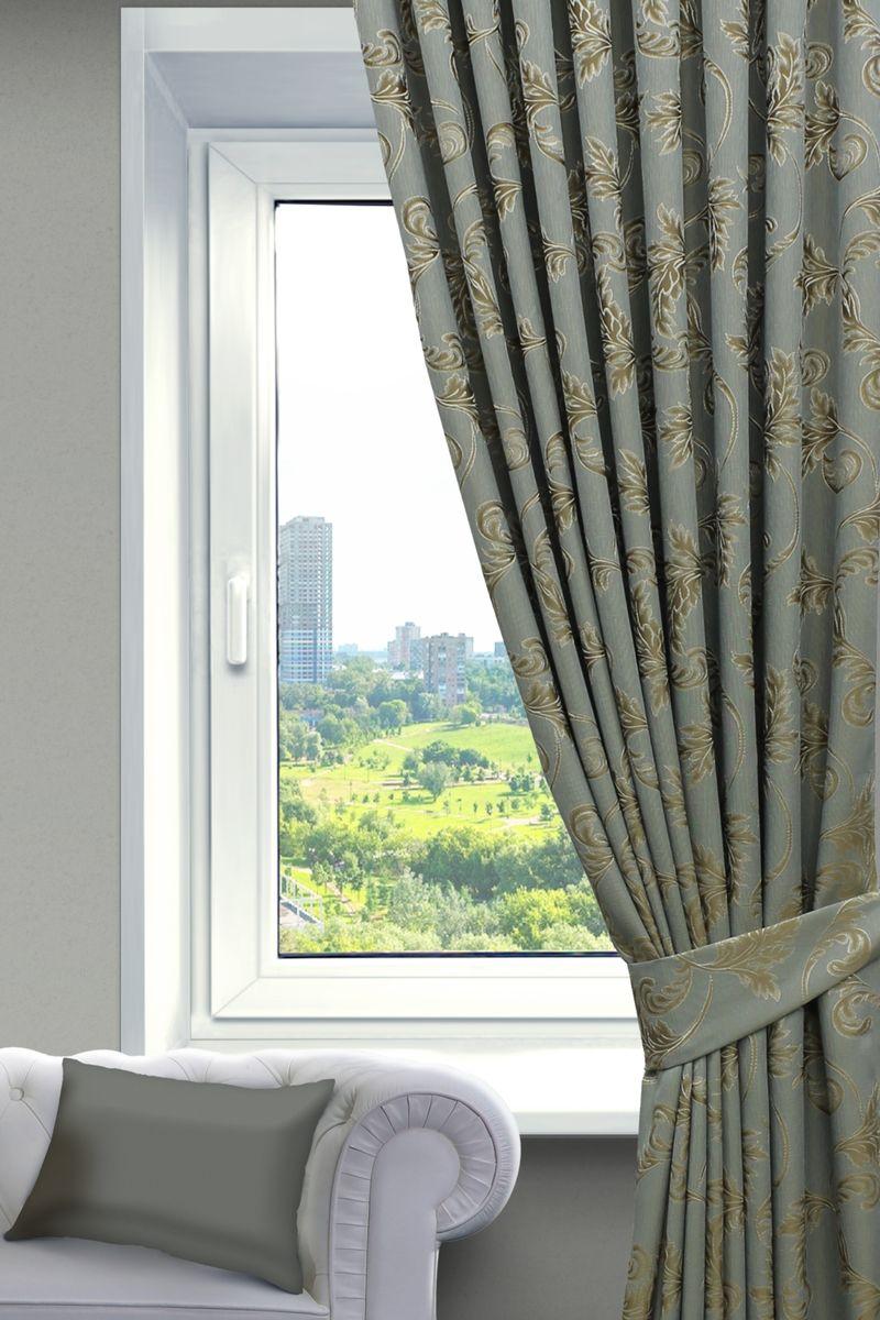 Комплект штор Sanpa Home Collection Дебора, на ленте, цвет: золотистый, бирюзовый, высота 260 смGC220/05Комплект штор Дебора, выполненный из жаккарда, великолепно украсит любое окно. Комплект состоит из двух штор и двух подхватов. Оригинальный рисунок и приятная цветовая гамма привлекут к себе внимание и органично впишутся в интерьер помещения. Этот комплект будет долгое время радовать вас и вашу семью!В комплект входит: Штора: 2 шт. Размер (Ш х В): 200 см х 260 см.Подхват: 2 шт.