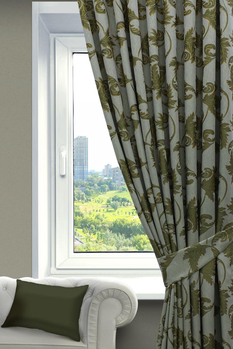 Комплект штор Sanpa Home Collection Дебора, на ленте, цвет: зеленый, высота 260 смVCA-00Комплект штор Дебора, выполненный из жаккарда, великолепно украсит любое окно. Комплект состоит из двух штор и двух подхватов. Оригинальный рисунок и приятная цветовая гамма привлекут к себе внимание и органично впишутся в интерьер помещения. Этот комплект будет долгое время радовать вас и вашу семью!В комплект входит: Штора: 2 шт. Размер (Ш х В): 200 см х 260 см.Подхват: 2 шт.
