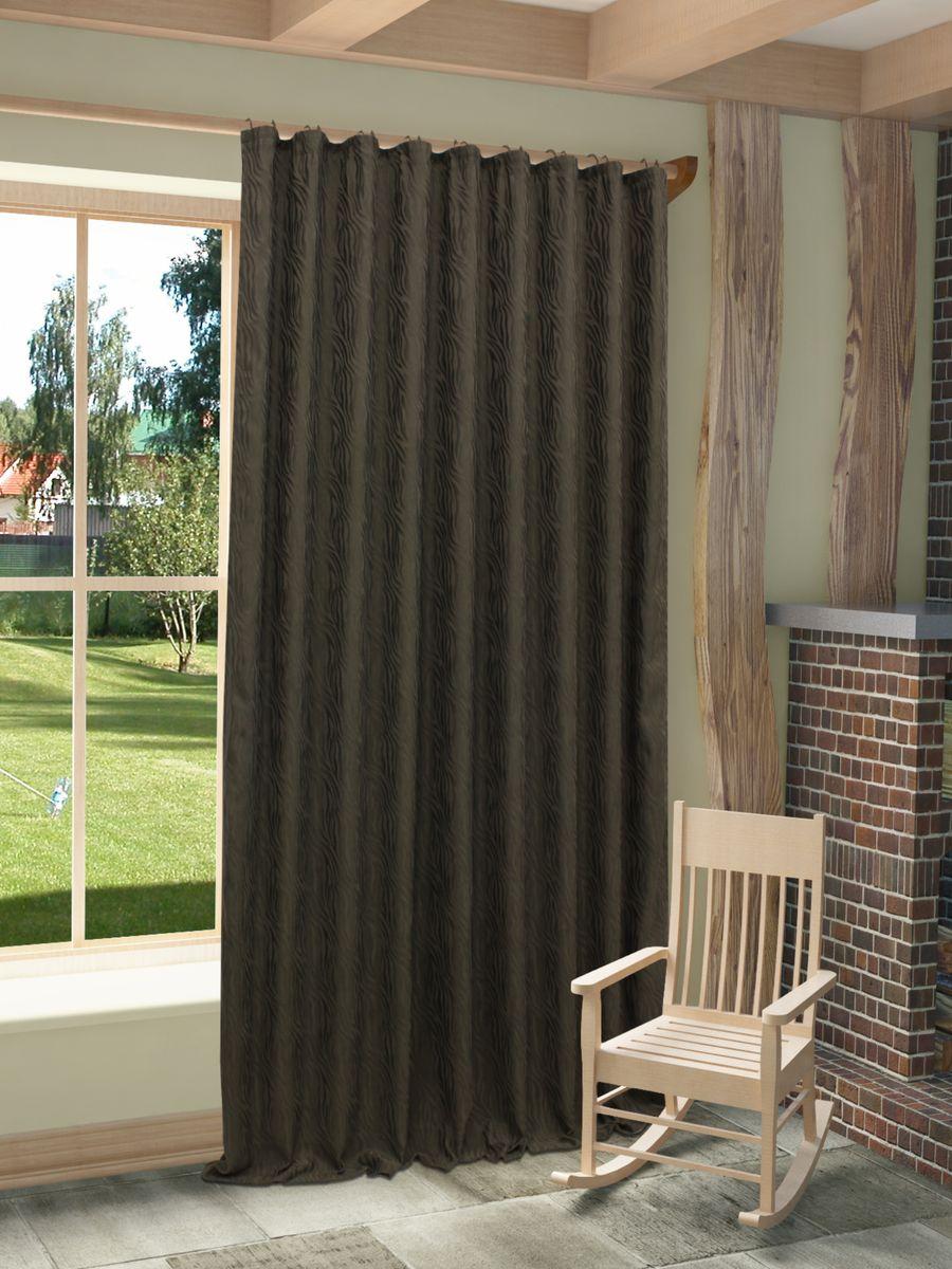 Штора Sanpa Home Collection Этна, на ленте, цвет: темно-серый, высота 270 см956251325Штора Этна с оригинальным узором изготовлена из высококачественных материалов.Шторы - это немаловажный, но всё же аксессуар в вашем доме, поэтому их стиль нужно подбирать, исходя из дизайна в вашей квартире. Например, тяжелые и выполненные из дорогих тканей шторы прекрасно впишутся в классическую гостиную. А вот для современных стилей могут быть использованы шторы с более простым оформлением. Крепление к карнизу осуществляется при помощи вшитой шторной ленты.