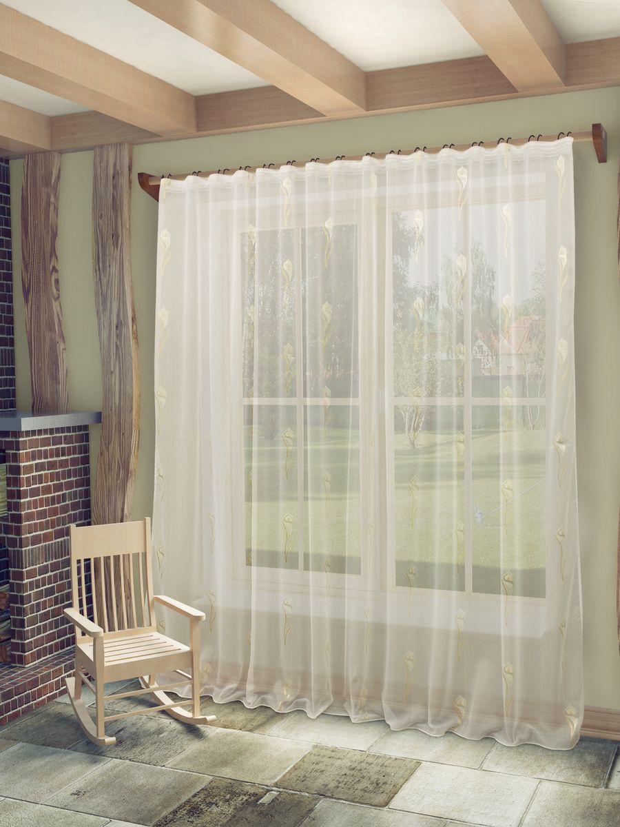 Тюль Sanpa Home Collection Антея, на ленте, цвет: белый, высота 260 смVCA-00Тюль Sanpa Home Collection Антея из легкой полупрозрачной ткани с жаккардовым рисунком. Тип крепления - шторная лента.Размер: ширина 300 см, высота 260 см. В упаковке 1 тюль.