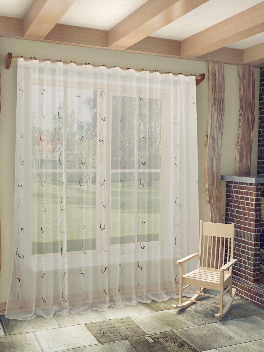 Тюль Sanpa Home Collection Джози, на ленте, цвет: белый, сиреневый, высота 260 смK100Тюль Джози нежного цвета изготовлена из ткани вуаль. Воздушная ткань привлечет к себе внимание и идеально оформит интерьер любого помещения. Ткань вуаль - это гладкая, тонкая, полупрозрачная ткань, изготавливаемая из хлопка, шерсти, шёлка или полиэстера путём полотняного переплетения нитей.Крепление к карнизу осуществляется при помощи вшитой шторной ленты.