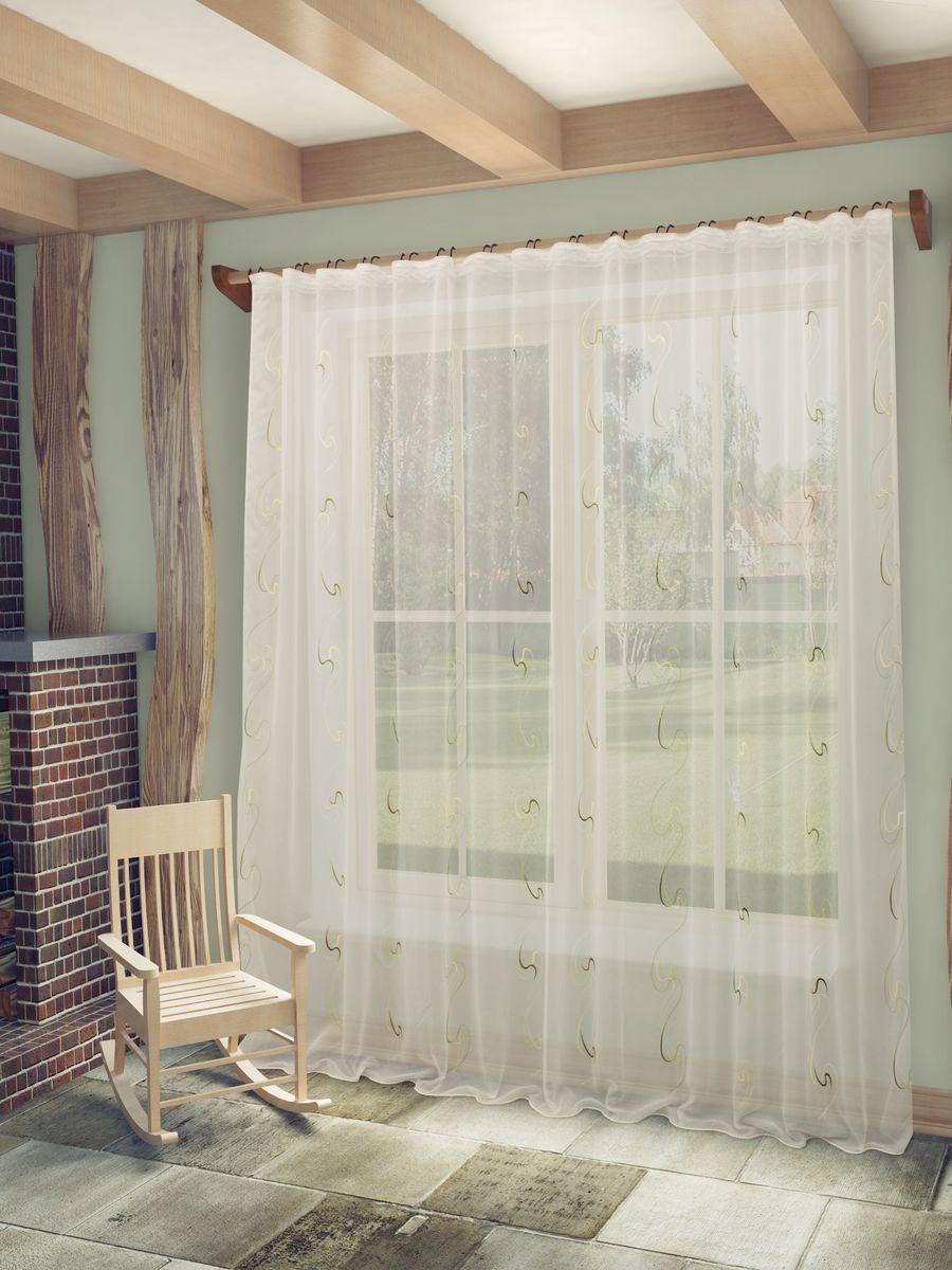 Тюль Sanpa Home Collection Джози, на ленте, цвет: белый, зеленый, высота 260 смS03301004Тюль Джози нежного цвета изготовлена из ткани вуаль. Воздушная ткань привлечет к себе внимание и идеально оформит интерьер любого помещения. Ткань вуаль - это гладкая, тонкая, полупрозрачная ткань, изготавливаемая из хлопка, шерсти, шёлка или полиэстера путём полотняного переплетения нитей.Крепление к карнизу осуществляется при помощи вшитой шторной ленты.
