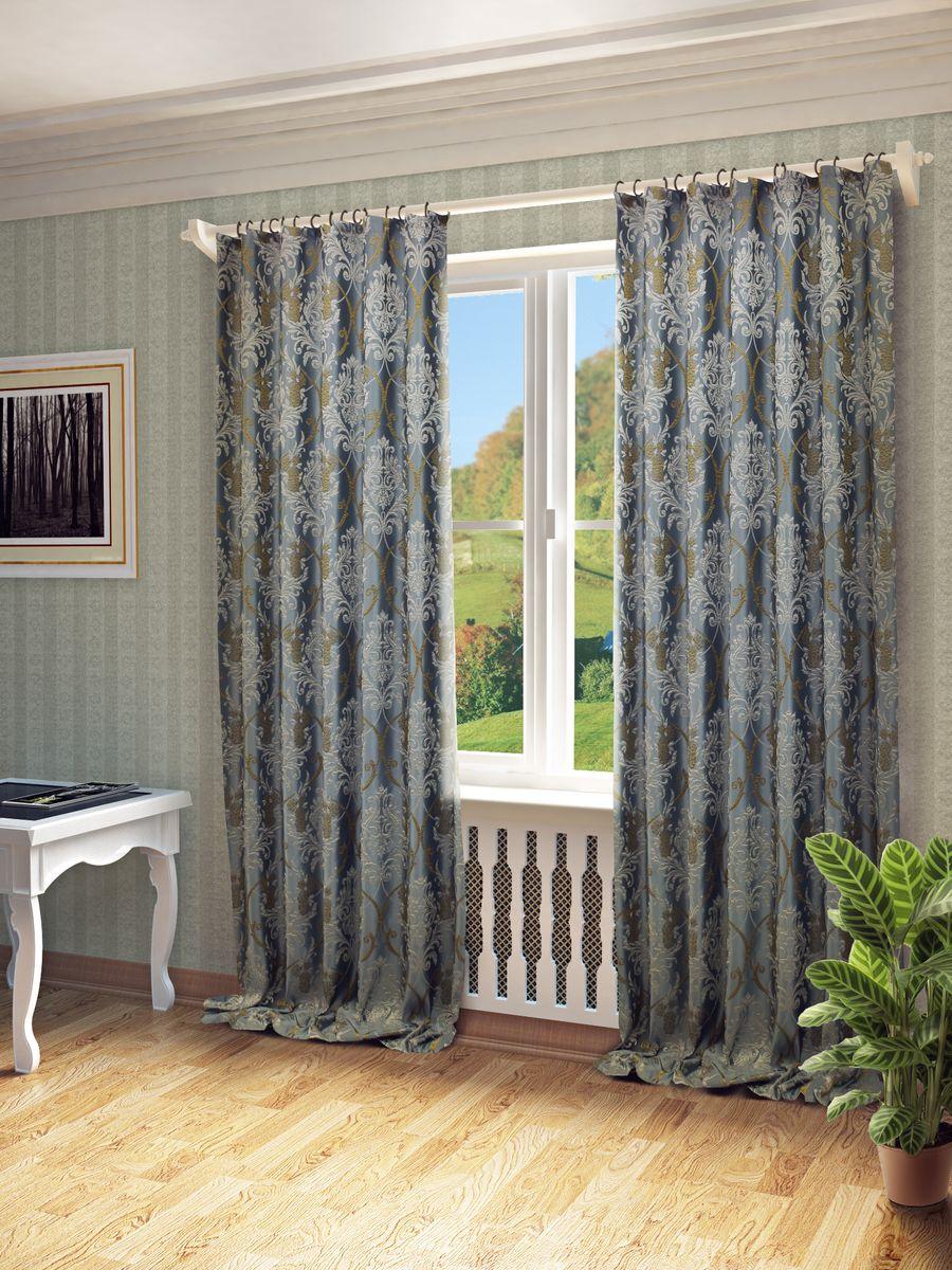 Комплект штор Sanpa Home Collection Джоли, на ленте, цвет: голубой, высота 260 см106-026Комплект штор Джоли, выполненный из жаккарда, великолепно украсит любое окно. Комплект состоит из двух штор и двух подхватов. Оригинальный рисунок и приятная цветовая гамма привлекут к себе внимание и органично впишутся в интерьер помещения. Этот комплект будет долгое время радовать вас и вашу семью!В комплект входит: Штора: 2 шт. Размер (Ш х В): 180 см х 260 см.Подхват: 2 шт.