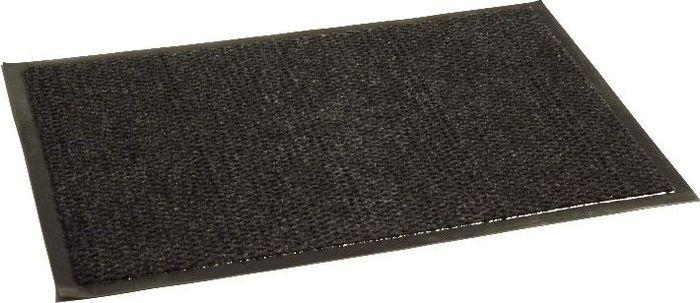 Коврик придверный InLoran Престиж, влаговпитывающий, цвет: черный, 50 х 80 смES-412Высота покрытия ~10 мм, иглопробивной петлевой ворс, удержание влаги и грязи на 1квадратный метр до 5 кг, материал изготовления - полиамид, винил