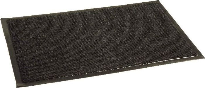 Коврик придверный InLoran Престиж, влаговпитывающий, цвет: черный, 120 х 150 смFS-91909Высота покрытия ~10 мм, иглопробивной петлевой ворс, удержание влаги и грязи на 1квадратный метр до 5 кг, материал изготовления - полиамид, винил