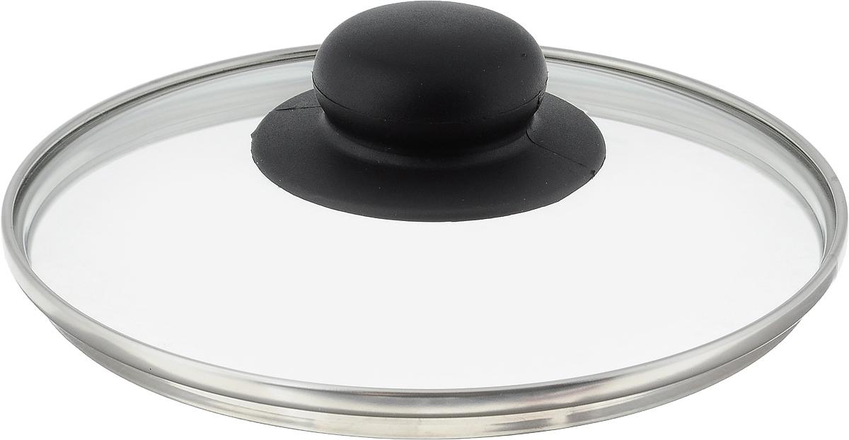 Крышка стеклянная NaturePan. Диаметр 16 см. Л2749115510Крышка NaturePan изготовлена из высококачественного жаропрочного стекла. Изделие имеет металлический обод и отверстие для выпуска пара. Крышка оснащена удобной ненагревающейся ручкой из пластика. Такая крышка позволит следить за процессом приготовления пищи без потери тепла. Она плотно прилегает к краям посуды, сохраняя аромат блюд. Можно мыть в посудомоечной машине.