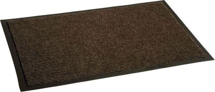 Коврик придверный InLoran Комфорт, влаговпитывающий, ребристый, цвет: коричневый, 120 х 150 смES-412Высота покрытия ~9 мм, иглопробивной ворс, удержание влаги и грязи на 1квадратный метр до 5 кг, материал изготовления - полиамид, винил