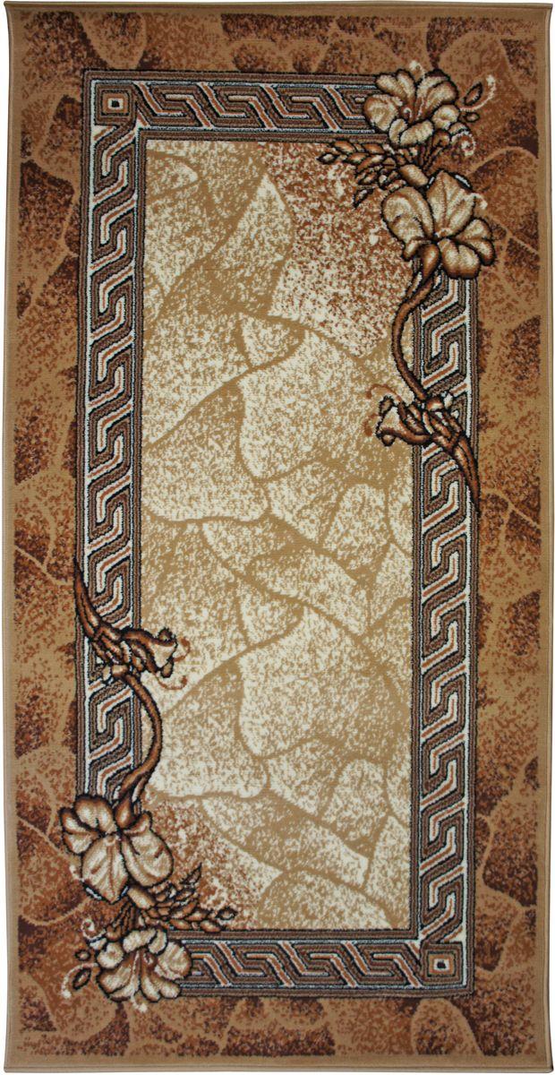 Коврик интерьерный Белка Флурлюкс, цвет: коричневый, бежевый, 50 х 80 см. 51006_50122ES-412Коврик-циновка. Основные цвета: коричневый и бежевый. Материал полипропилен, без ворса. Основа - тканая джутовая.