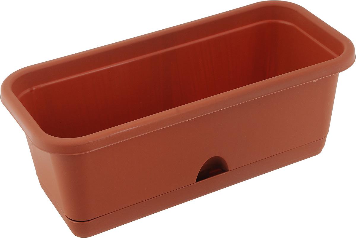 Балконный ящик Idea, с поддоном, цвет: коричневый, 38 х 15 х 13 смПВЛ 4 ЛИЛБалконный ящик Idea изготовлен из высококачественного цветного полипропилена и оснащен поддоном. Изделие предназначено для выращивания цветов и рассады как на балконе, так и в комнатных условиях. Размер ящика (с учетом поддона): 38 х 15 х 13 см.Размер поддона: 33 х 11 х 3 см.