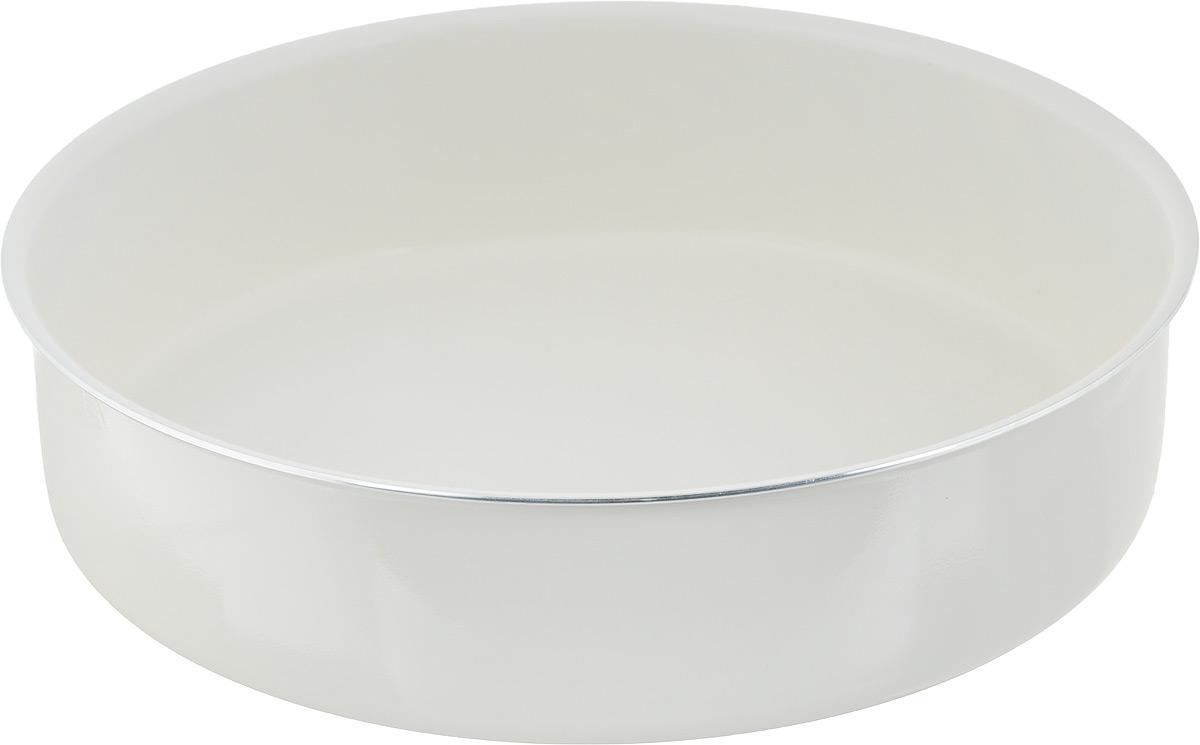 Форма для запекания NaturePan Еco-Line, круглая, с керамическим покрытием, диаметр 28 смРАД00000373_бирюзовый, жёлтыйФорма для запекания NaturePan Еco-Line изготовлена из высококачественного алюминия с керамическим покрытием. Покрытие абсолютно безопасно для здоровья, не содержит вредных веществ. Форма прекрасно подходит для приготовления любой выпечки, запеканок и прочих лакомств.Форма станет полезным приобретением для вашей кухни и сделает приготовление любимых блюд намного проще. Подходит только для газовой и электрической плиты. Разрешена только ручная мойка. Внутренний диаметр формы: 28 см.Высота стенки: 7 см.