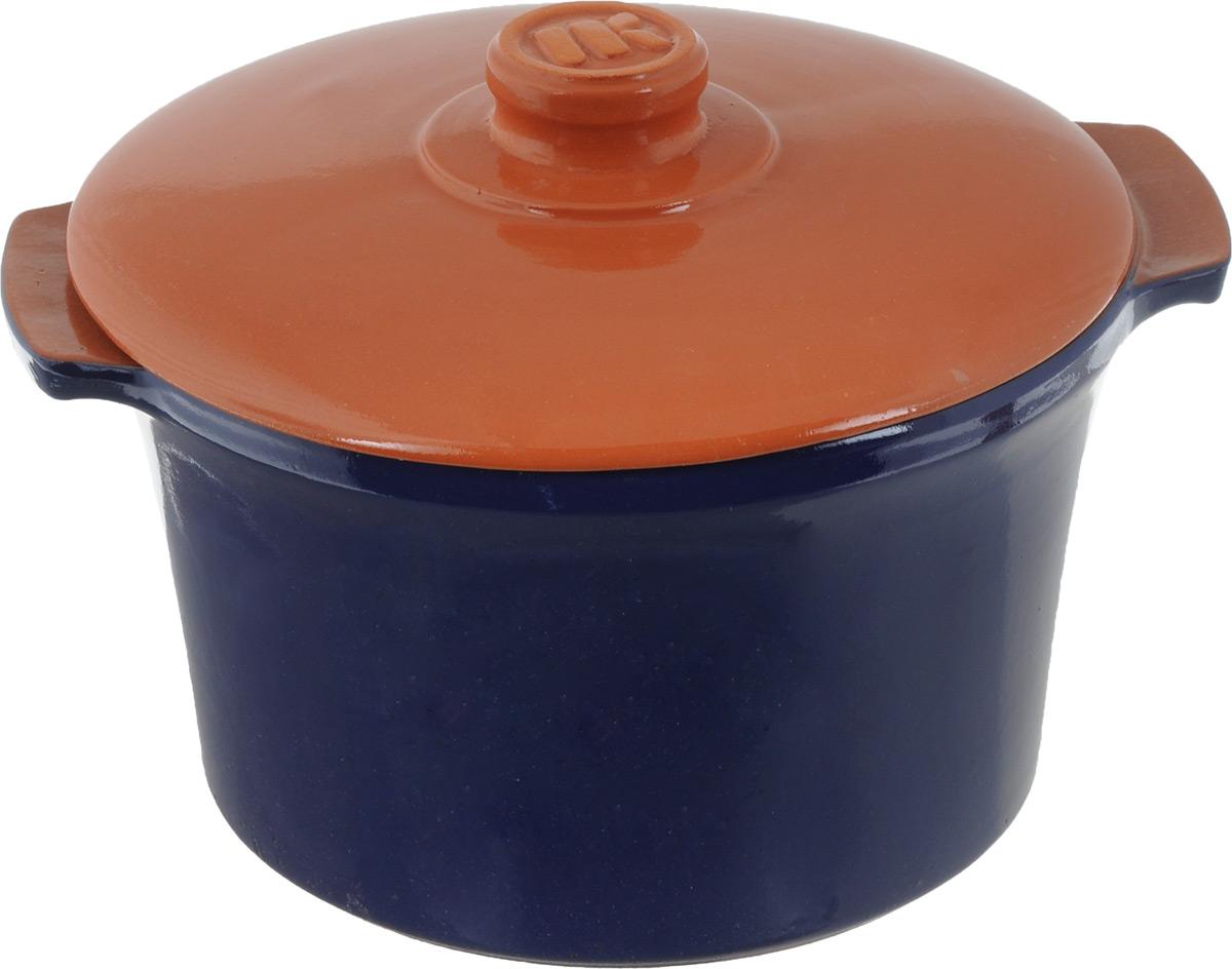 Кастрюля керамическая Ломоносовская керамика Огонек с крышкой, цвет: синий, коричневый, 4 л391602Кастрюля Ломоносовская керамика Огонек выполнена из высококачественной термостойкой керамики. Покрытие абсолютно безопасно для здоровья, не содержит вредных веществ. Кастрюля оснащена удобными боковыми ручками и керамической крышкой. Она плотно прилегает к краям посуды, сохраняя аромат блюд.Подходит кастрюля для использования на всех типах плит. Для использования на индукционных плитах требуется специальный диск. Благодаря термостойкости материала, кастрюлю можно использовать в духовке и СВЧ. Разрешено мыть в посудомоечной машине. Диаметр: 22,5 см.Высота стенки: 14,5 см.Толщина стенки: 8 мм.Диаметр дна: 18,5 см. Ширина кастрюли (с учетом ручек): 28 см.Диаметр крышки: 24 см.
