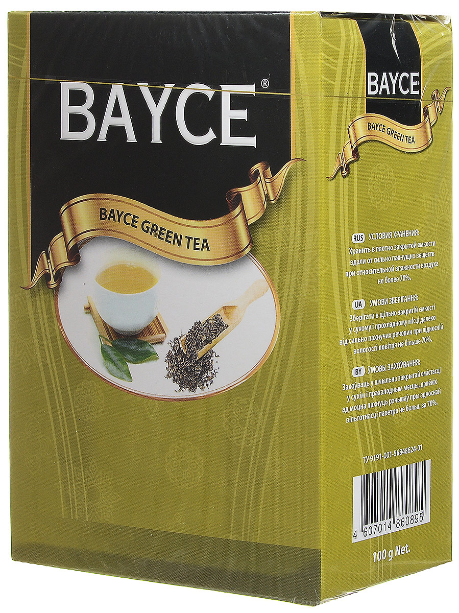 Bayce зеленый листовой чай, 100 г4607014860291Превосходный зеленый чай Bayce, собранный на чайных плантациях Китая. Приятный вкус и целебные свойства делают этот сорт чая особенно привлекательным.
