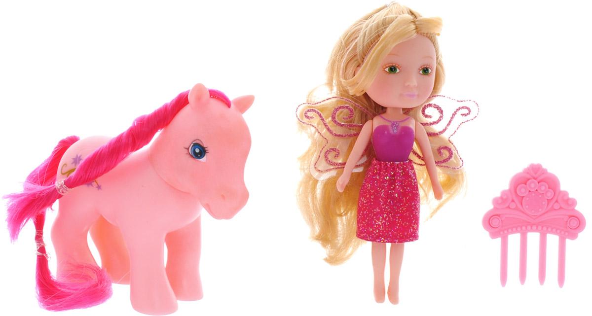 Veld-Co Игровой набор с мини-куклой My Lovely Fairy цвет розовый