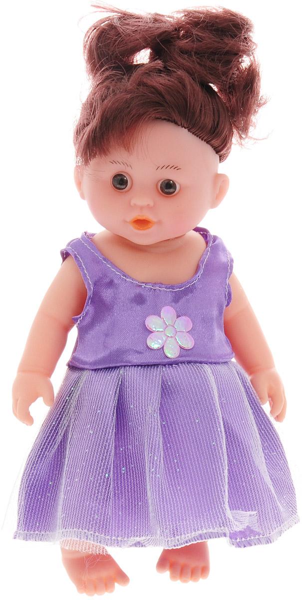 Veld-Co Мини-кукла озвученная цвет платья сиреневый