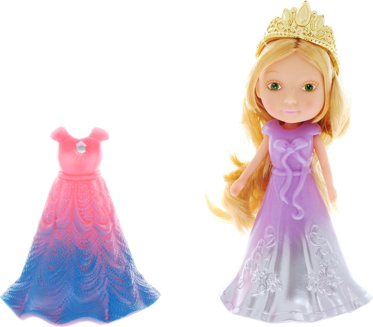 Veld-Co Мини-кукла Принцесса цвет сиреневый серебристый розовый veld co мини кукла mona с черепахой