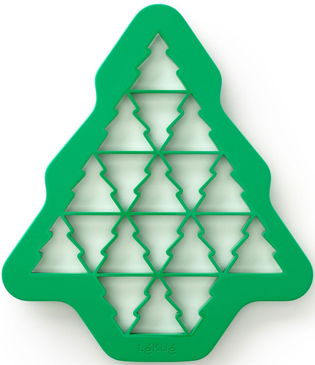 Форма для печенья Lekue Елочки, цвет: зеленыйFS-91909Откройте новый оригинальный способ приготовления печенья! Испеките 19 печений в форме елочки с помощью всего одного жеста. Набор включает в себя идеи для украшения ваших елочек!