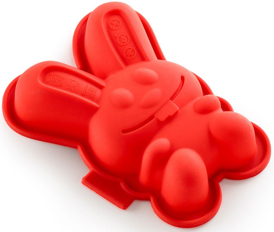 Форма для кекса Lekue Зайчик, цвет: красный, 2 штFS-91909Форма изготовлена из чистого силикона, абсолютно инертного медицинского материала. Силикон не вступает ни в какое химическое воздействие с окружающими материалами. Следовательно, ваша пища, изготовленная в форме из силикона, никогда не будет содержать никаких посторонних примесей, что часто случает при приготовлении пищи в посуде из металла. Изделия из силикона выдерживают большие перепады температур от -40 до +250 градусов.